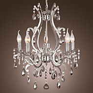 40 Chandelier ,  Traditional/Classic Chrome Feature for Candle Style Metal Living Room Bedroom Dining Room