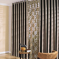 AnTi™ Two Panels Grommet Top  Classic Solid Thick Blackout Curtain