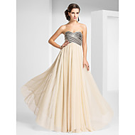 Prom / Formal Evening / Military Ball Dress - Open Back Sheath / Column Strapless / Sweetheart Floor-length Tulle withDraping / Criss