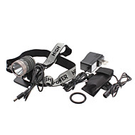 UniqueFire HD003 5-Mode Cree XM-L T6 LED Rechargeable Headlamp Set (10w, 1000LM, Battery Pack + AC Charger)