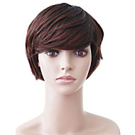 Capless Short Brown Wavy High Quality Synthetic Japanese Kanekalon Christmas Parties Wigs