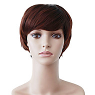Capless Short Brown Wavy High Quality Synthetic Japanese Kanekalon Happy Parties Wigs