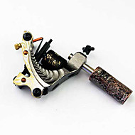 Hand-assembled Cast Iron Tattoo Machine Liner and Shader with Grip