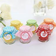 Schöne Glass Candy Jars Mit Plaid - von 20 Stellen (mehr Farben)