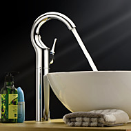 Sprinkle® by Lightinthebox - Single Handle Centerset Solid Brass Chrome Finish Bathroom Sink Faucet(Tall)