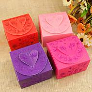 Floral Heart Design Favor Boxes - Set von 12 (Weitere Farben)