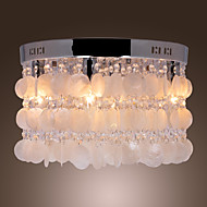 Max 40W Flush Mount ,  Modern/Contemporary Chrome Feature for Crystal / Mini Style Metal Living Room / Bedroom