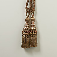 TWOPAGES® Brown Polyester Classic Tassel (One Pair)