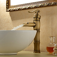 centerset antik mässing bathroom sink kranen