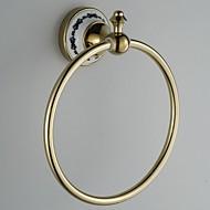 "Towel Ring Ti-PVD Wall Mounted 210 x 205 x 85 mm (8.3 x 8.1 x 3.3 "") Brass Antique"