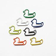 ankka tyyli värikäs paperiliittimiä (random väri, 10-pakkaus)