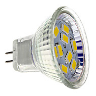 4W GU4(MR11) LED-spotlampen MR11 9 SMD 5730 430 lm Warm wit DC 12 V