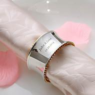 Personalizado de alta calidad anillo de servilleta de plata
