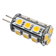 G4 2W 18x5050SMD 110LM 3000K lämmin valkoinen LED-maissilamppu (12V)