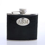 Gift Groomsman Personalized Black 5-oz Flask