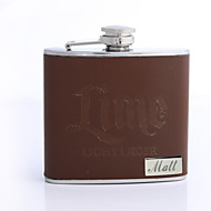 Personalized Gift Brown 5oz PU Leather Flask