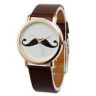 Fashion PU Round Glass Quartz Women's Watch(More Colors)