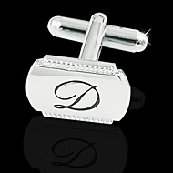 "Gift Groomsman Simple Initial ""D"" Cufflinks"