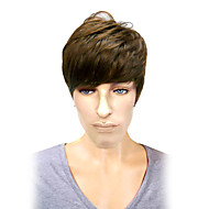 Capless Top Grade Synthetic Business and Leisure Use Short Straight Brown Men's Wigs