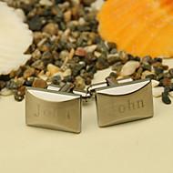 gift groomsman gepersonaliseerde slanke manchetknopen met geschenkdoos