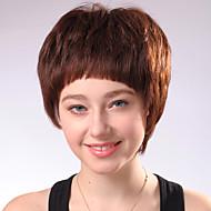 Capless Kort lys gylden blond Curly Mixed Hair parykker