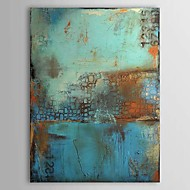 Oil Paintings One Panel Vintage Abstract Blue Color  Hand-painted Canvas Ready to Hang