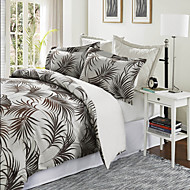 Leaf Poly/Cotton Duvet Cover Sets