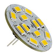 6W G4 LED bodovky 12 SMD 5730 570 lm Teplá bílá DC 12 V
