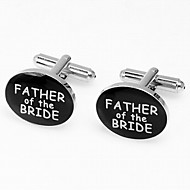 "Gift Groomsman ""Father Of The Bride"" Cufflinks"