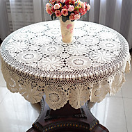 As per picture 100% Cotton Round Table Cloths