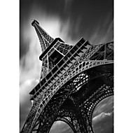 Stretched Canvas Art Landscape Eiffel Tower Study by Moises Levy Ready to Hang
