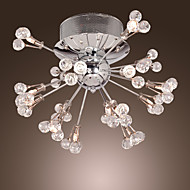 Max 10W Flush Mount ,  Modern/Contemporary Chrome Feature for Crystal Metal Living Room / Bedroom / Entry / Hallway