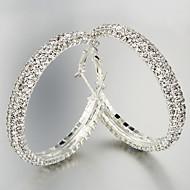 후프 귀고리 여성용 합금 귀걸이 크리스탈
