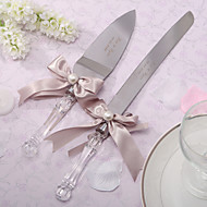 Serving Sets Wedding Cake Knife Personalized  Serving Set With Ribbon Bow