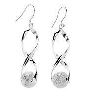 Earring Drop Earrings Jewelry Women Daily Alloy Silver