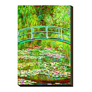 The Waterlily Pond with the Japanese Bridge, 1899 by Claude Monet Famous Stretched Canvas Print