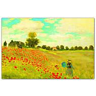 Field of Poppies, c.1886 por Claude Monet Impressão artística Famous