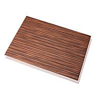 Ensemble de 4 Modern Wood Pattern Pu Napperons