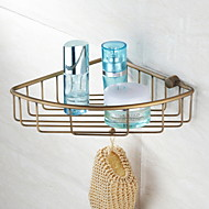 "Bathroom Shelf Antique Bronze Wall Mounted 215 x 205mm (8.46 x 8.07"") Brass Antique"