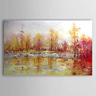 Pintados à mão Abstrato / Paisagens Abstratas 1 Painel Tela Pintura a Óleo For Decoração para casa