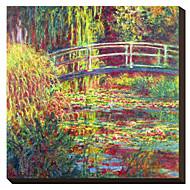 Den japanska bron vid Claude Monet Famous Sträckt Canvastryck