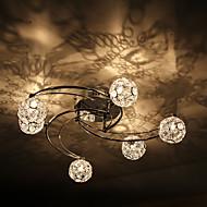 הר פלאש 60W אמנותי מודרני עם 6 ו -6 גווני אורות גלוב האביב בתכונת טחנת רוח