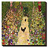 Gardenpath kanojen, 1916 Gustav Klimt Famous Canvastaulu