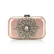 Satin With Austria Rhinestones Flowers Evening Handbags/ Clutches More Colors Available