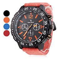 V6® Men's Watch Military Big Round Case Fabric Band  Cool Watch Unique Watch