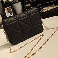 Lady's Fashion Check Chain Crossbody Bag
