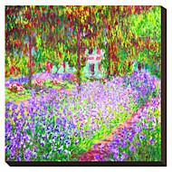 El jardín del Canvasist estirada en Giverny, c.1900 Claude Monet famoso lienzo envuelto para galerías