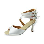 נשים מותאמות אישית קרסול סאטן הרצועה העליון עם נעלי ריקוד אקל