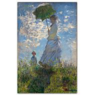 Mujer con un parasol - señora Monet y su hijo Claude Monet famosa lámina