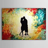 pintado a mano de pintura de aceite de los amantes de las personas con el marco de estirado-1307 pe0278